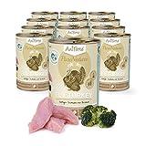 AniForte Katzenfutter Fine Turkey 12 x 400g für Katzen, Nassfutter ohne künstliche Vitamine und chemische Zusätze
