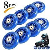 RUNACC Recreativas para Patines Ruedas Práctico Rollerblade Ruedas Durable juego de ruedas Skate con Diseño...