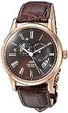 Orient Homme 42.5mm Automatique Marron Cuir Bracelet Date Montre FET0T003T0