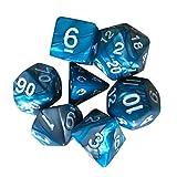 Mamum Würfel für Dungeons and Dragons, Polyhedrale D4-D20 Acryl-Würfel, 7-teiliges Set...