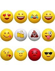 Golf Bälle mit Emoji-lagig Professional Praxis Golfbälle für Neuheit Kinder Geschenk Outdoor Aktivitäten Spielen Kinder Spielzeug. 12Stück inkl..