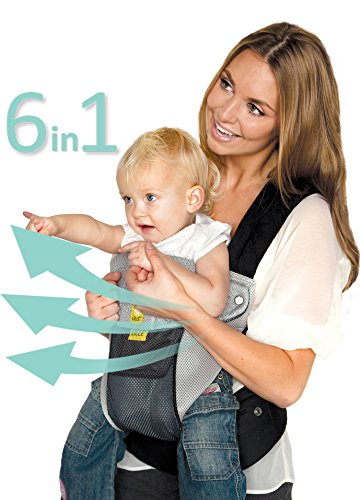 LILLEbaby Complete Airflow 6-in-1 Baby Carrier - Grey/silver