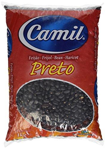 Brasilianische schwarze Bohnen, 1a-Qualität, Beutel 1kg - Feijão Preto CAMIL 1kg