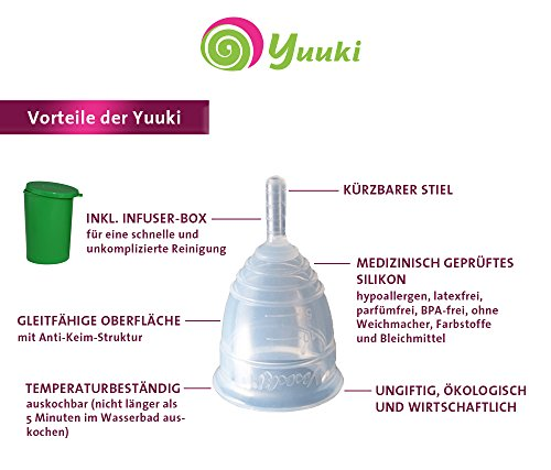 Menstruationstassen Yuuki-Set Soft S und Classic S inkl. Reinigungs-Box Menstruationsbecher Menstruationskappe - 2