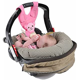 Baby Bottle Holder for Hands Free Bottle Feeding by Bebe Bottle Sling Pink kitten