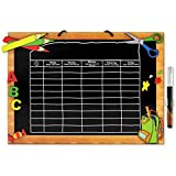 Stundenplan - Holz - mit abwischbarem Kreidemarker - verschiedene Designs (Tafel)
