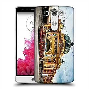 Snoogg Yellow Building Designer Protective Phone Back Case Cover For LG G3 BEAT STYLUS