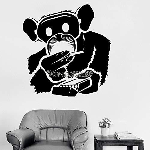 zqyjhkou Lustige Rauchen Wandaufkleber Für Wohnzimmer Wandbild Kunst Vinyl Wohnkultur Abnehmbare Aufkleber Junge Schlafzimmer Coole Poster Heißer M 56 cm x 58 cm