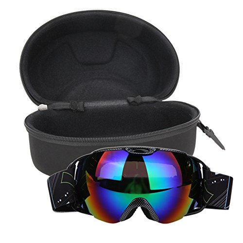 everpert Unisex Double Lens UV400Anti-Fog Ski Snowboard Skifahren Gläser Mit Fall, Snakeskin Snakeskin Fall