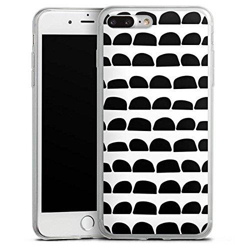 Apple iPhone 8 Slim Case Silikon Hülle Schutzhülle Steine Schwarz-Weiß Muster Silikon Slim Case transparent