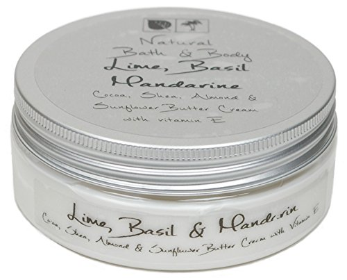 Kakaobutter Creme Handcreme Gesichtscreme LIMONE, BASILIKUM, MANDARINE 200 ml mit Sheabutter geeignet auch für sehr trockene Haut - Mandarine-basilikum