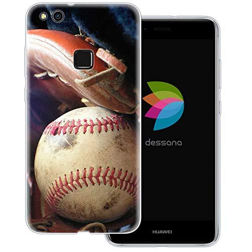 dessana Baseball Transparente Schutzhülle Handy Case Cover Tasche für Huawei P10 Lite Baseball Training Mlb Baseball-handy