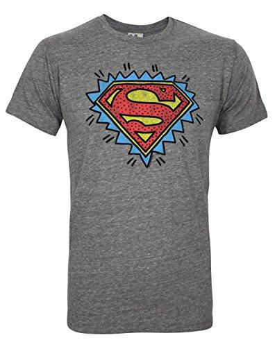Junk Food Superman Logo Men's T-Shirt (M) (Food-superman Junk)