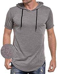 Celebry tees - Tee-shirt hoody oversize maille fluide kaki