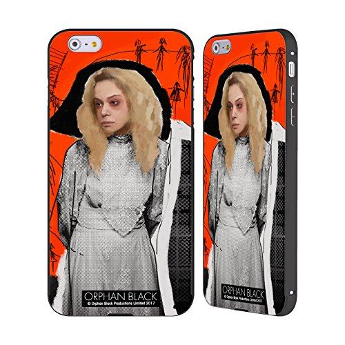 Ufficiale Orphan Black Tony Felix Opera Darte Nero Cover Contorno con Bumper in Alluminio per Apple iPhone 6 Plus / 6s Plus Helena Dipinto