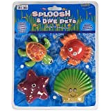 POOF-Slinky - Ideal Dive Pets Sink and Find Pool Toys, 4-Pack, Assorted Pets, 0X8-28400 by Ideal (English Manual)