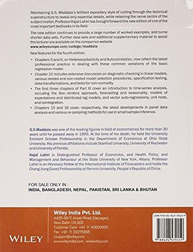 Introduction to Econometrics, 4ed