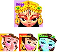 Durga: Mini Bus Series+Cutout Board Book: Ganesha +Cutout Board Book: Hanuman +Cutout Board Book: Krishna (Set