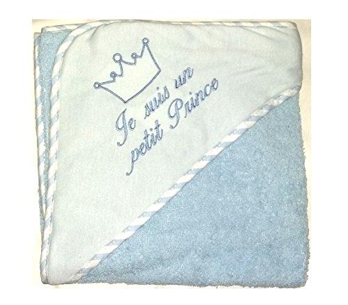 Sortie de bain, ensemble bebe Cape avec gant, idee cadeau naissance - BEPC bébé NISSANOU (BLEU)