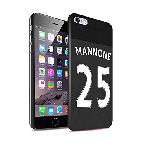 Offiziell Sunderland AFC Hülle / Glanz Snap-On Case für Apple iPhone 6+/Plus 5.5 / Torwart Muster / SAFC Trikot Away 15/16 Kollektion Mannone