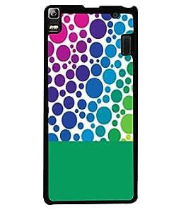 FIOBS rainbow colour bubbles circles abstrat design playful Designer Back Case Cover for Lenovo K3NOTE