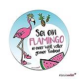 #detailverliebt 1 Flamingo Mousepad I dv_236 I Ø 22 cm rund I Mauspad Hardpad cool ultra-dünn flach rutschfest mit Motiv rosa pink