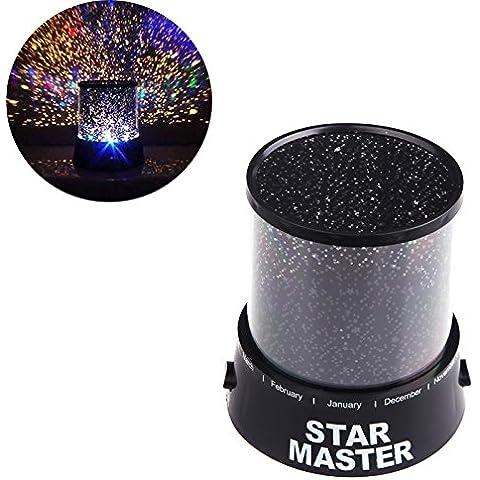 JDWG Luz de la noche Regalo romántico colorido Cosmos cielo amo de la estrella Baby Magic Kids proyector LED estrellada