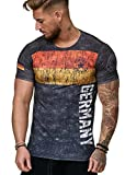 Herren T-Shirt Flag Slim Fit - Alemannia Deutschland Germany WM 2018 WC Weltmeisterschaft World Cup Deutschland 1007 M