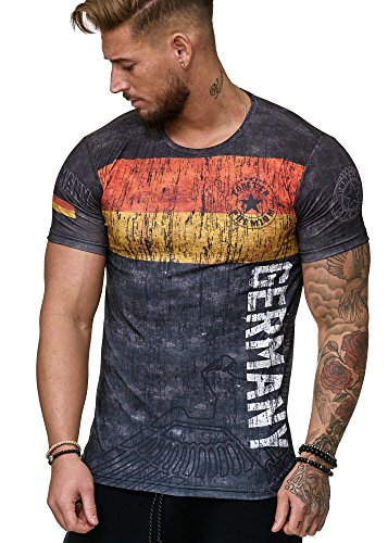 Herren T-Shirt Flag Slim Fit - Alemannia Deutschland Germany WM 2018 WC Weltmeisterschaft World Cup Deutschland 1007 XL