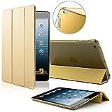 Verbesserte Version - SAVFY® iPad Mini 3 Hülle iPad mini Retina Display Case iPad Mini 1 / 2 /3 Retina Display Smart Cover mit Back Schutzhülle Unterstützt Sleep / Wake up Funktion-gold