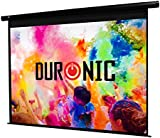 Duronic EPS119/169 HD Projector Screen (Screen: 264cm(w) X 147cm(h)) - 16:9 Widescreen Matte White Screen - Electric Motorised switch control