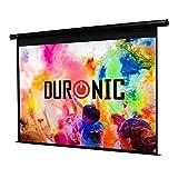 Duronic EPS92 /169 Ecran de projection électrique 92 pouces 16:9 / 203 x 114 cm - Fixation mur ou plafond - 4K Full HD 3D