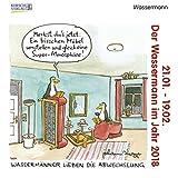 Wassermann Mini 2018: Sternzeichenkalender-Cartoon - Minikalender im praktischen quadratischen Format 10 x 10 cm.