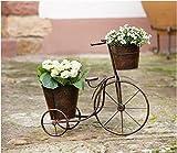 Blumendreirad für Garten aus Metall 50 cm Dekofahrrad Blumenständer Fahrad
