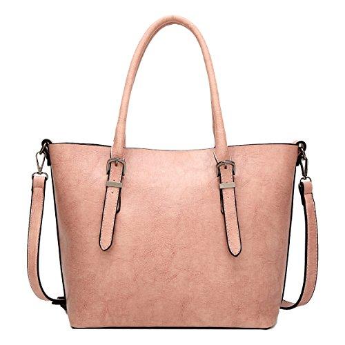 Yy.f Neue Art Und Weise Handtaschen Damenmode Einfach Mit Hohen Kapazität Tragbarer Schulter Umhängetasche Solider Beutel Mehrfarbige Beutel Pink