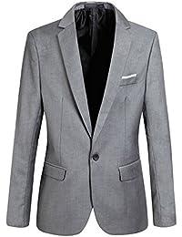 Aelegant Herren Classic Slim Fit Sakko Blazer Freizeit ein Knopf Business  Kurzjacke Anzugsjacke Kurzmantel ae839b6005