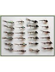 24Lièvres oreille et queue Nymphe FAISAN mouches de pêche