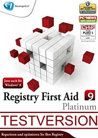 Registry First Aid 9 Platinum - Kostenlose Testversion [Download]
