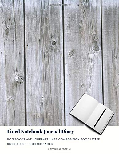 Lined Notebook Journal Diary: Notebooks And Journals Lines Composition Book Letter sized 8.5 x 11 Inch 100 Pages (Volume 72) - Bullets-graphic 100 Novel
