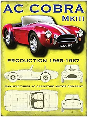 AC Cobra MKIII MK3. 1965-1967. Red American classic car in