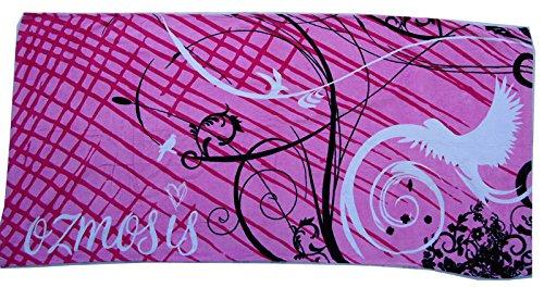 Mangeoo navigare in puro cotone giovane grande asciugamano morbido assorbente acqua uccelli volare 162x81cm,rosa,162x81cm