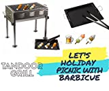#7: FreshDcart Portable Barbeque Charcoal Grill Kit and Tandoor Set for Outdoor Large Garden Travel Camping Picnic Party