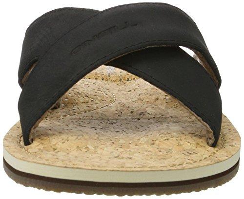 O'Neill Herren Axed Crazy Horse Leather Flip Flops Schwarz (Black (9900))