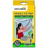 Schellenberg 20409, Fliegengitter mit Befestigung Fenster Schellenberg 150x180cm anthrazit, Grundpreis:2,20 ? pro Quadratmeter