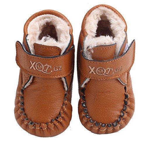 HAPPY CHERRY Winter Babyschuhe Weiche Sohle Lauflernschuhe Plüsch Kleinkind Turnschuhe Warme Stiefel Plüsch Für Kleinkinder