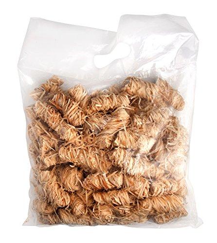 BIO-Anzünder aus Holzwolle und Wachs im 2 kg Beutel (Inhalt pro Beutel ca. 125 Stück)