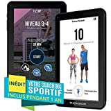 Thomson Tablette tactile TEO-QD9BK8S - 9'' noir - 1 Go de RAM - 8 Go de stockage - Android 5.1 - Wi-Fi, Bluetooth, USB - Programme de coaching sportif inclus