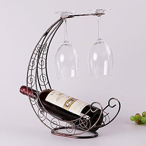 Yifom Creative cantinette portabottiglie di vino appeso portabicchieri ripiano in vetro