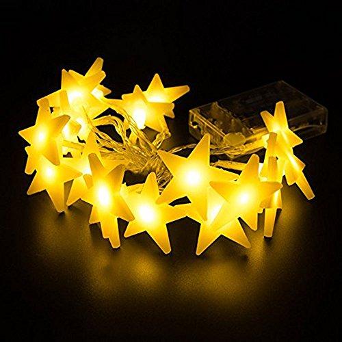 LED Lichterkette 3M 30er LED Kinderzimmer Schlafzimmer Deko Licht Batteriebetrieben Lichterketten Warmweiß