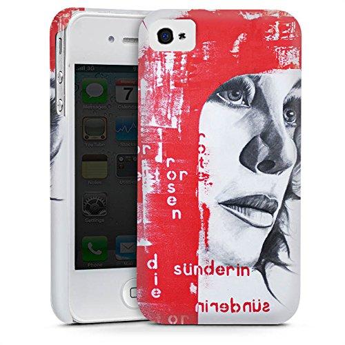 Apple iPhone 6 Housse Étui Silicone Coque Protection Femme Femme Visage Cas Premium mat